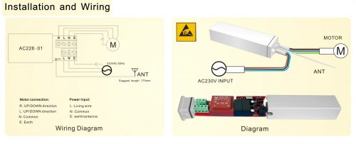 Installation and wiring image