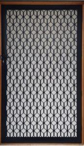 Oz Roller Shutters Black White Decorative Diamond Door