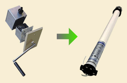 Manual Winder to 240V Electric Motor Upgrade