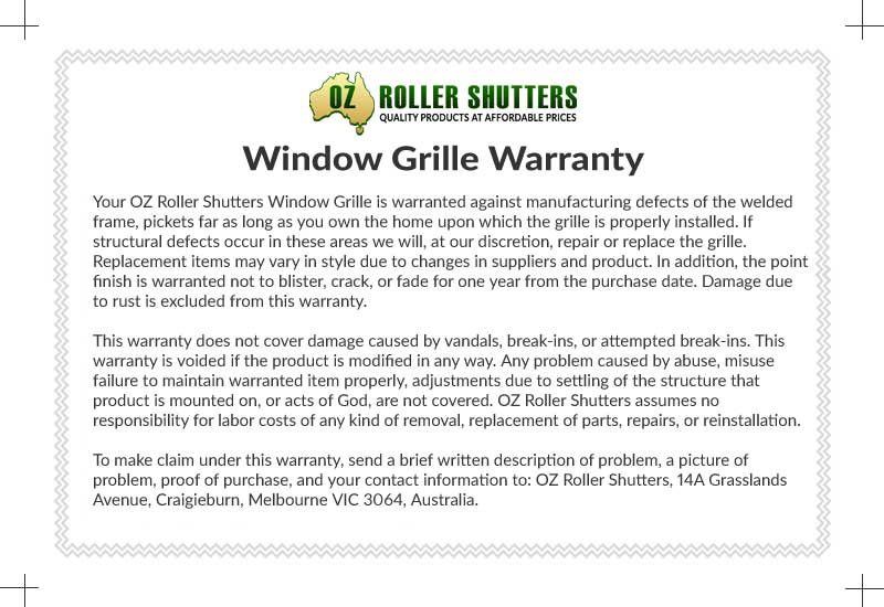 Security Door Warranty